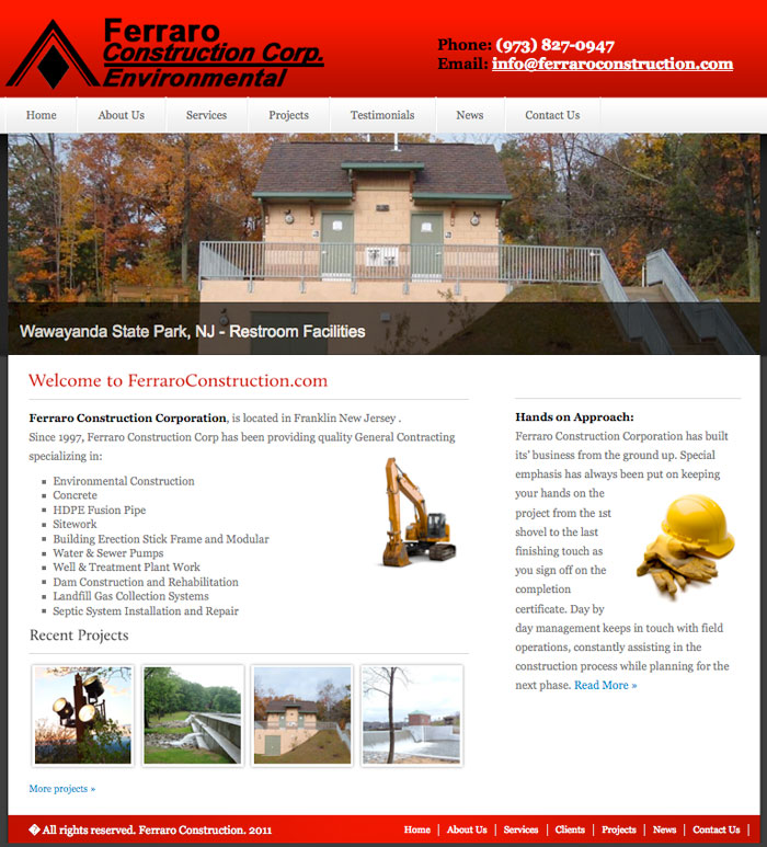 Ferraro Construction Company- http://ferraroconstruction.com/redesign