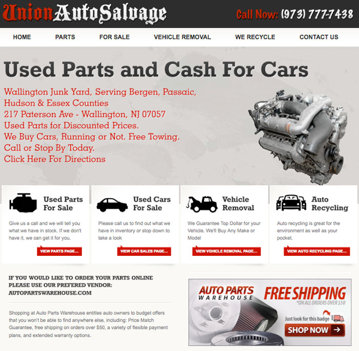 Union Auto Salvage- JunkCarsNJ.com